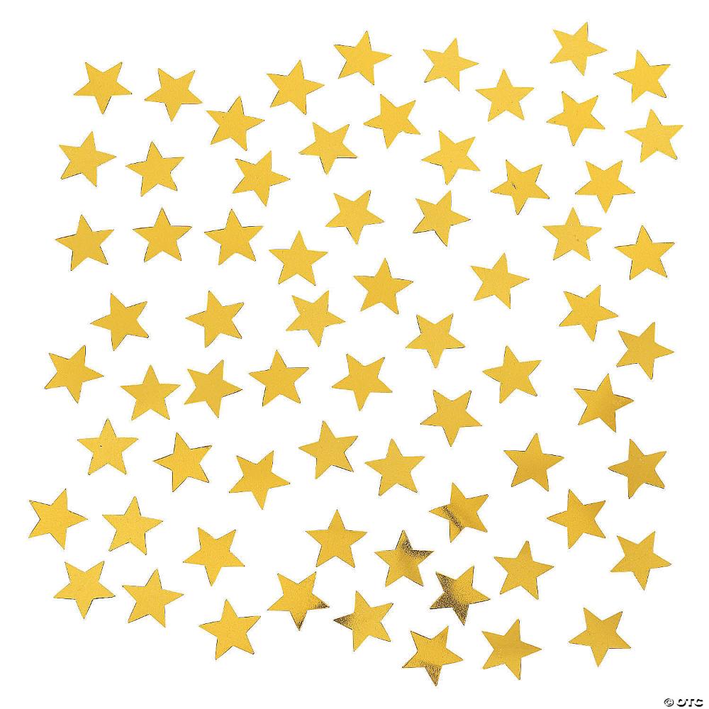 Gold Star Shaped Confetti Oriental Trading Gold Stars Star Shape Oriental Trading