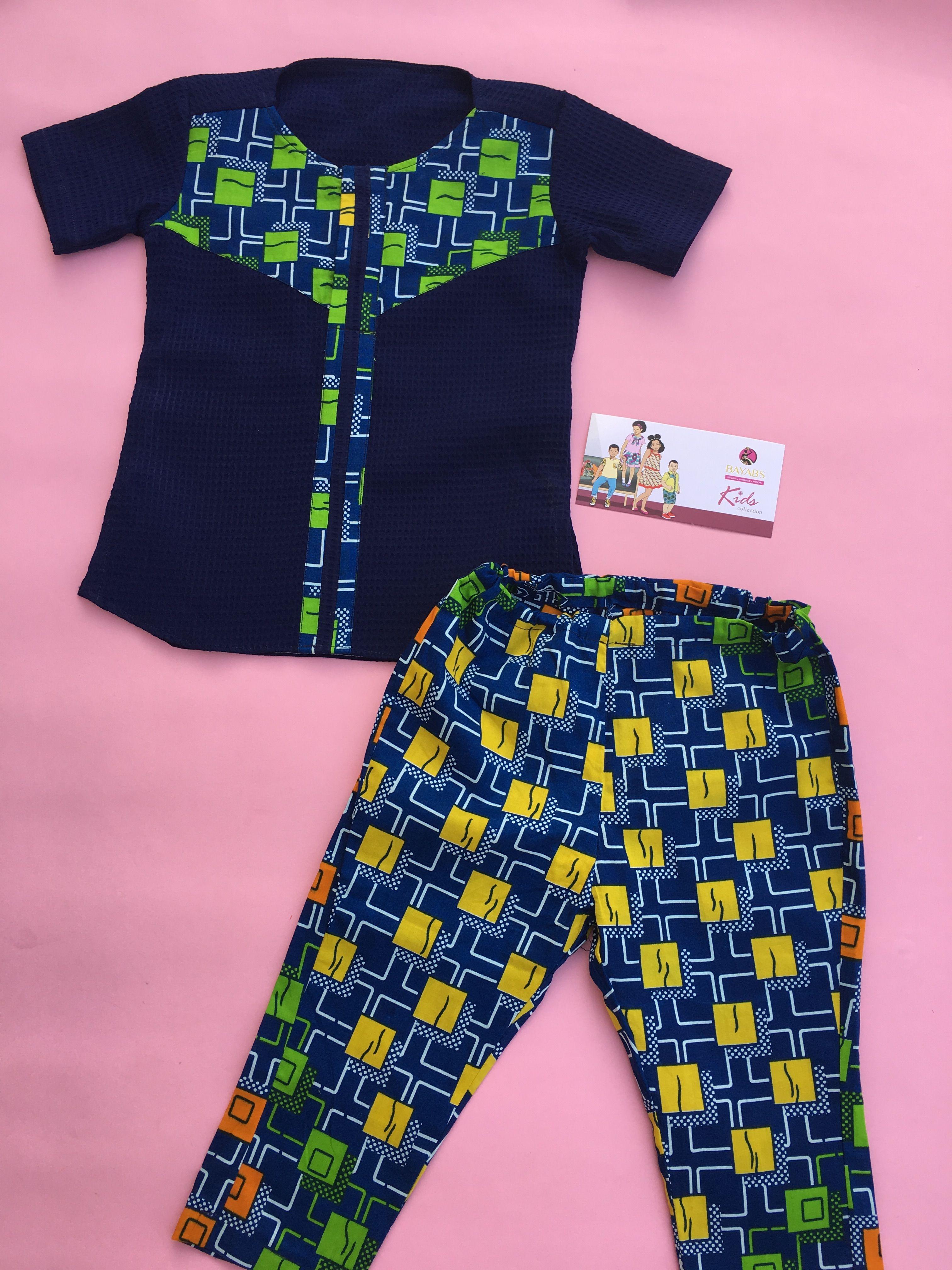 aa9349f9f Ankara kids wear. African print shirt and african print pants for ...