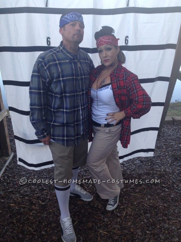 Cool Chola and Cholo Couple Costume...