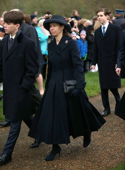 Lady Sarah Chatto with her sons Samuel Chatto (L) and Arthur