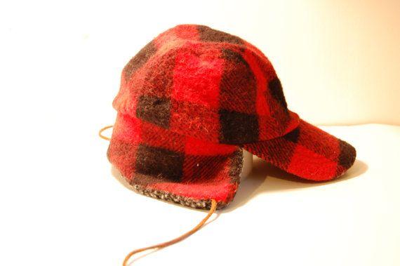 Red Wool Vintage Hunti...