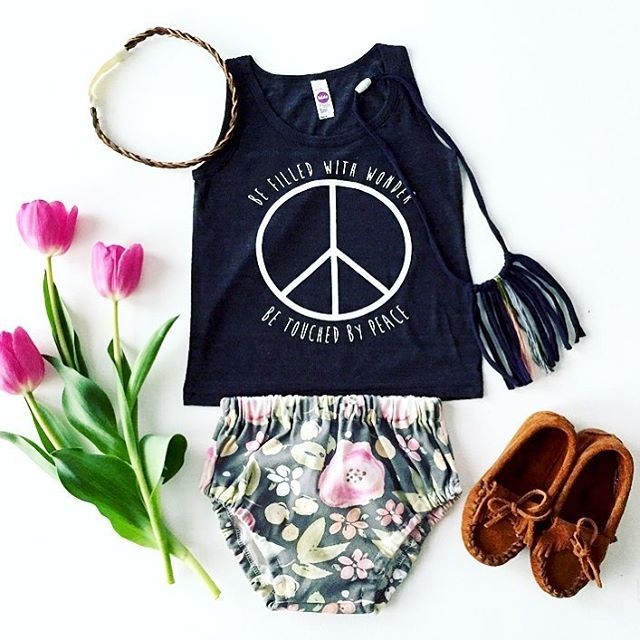Peace sign baby tank and onesie - hippie baby // Little Beans ...