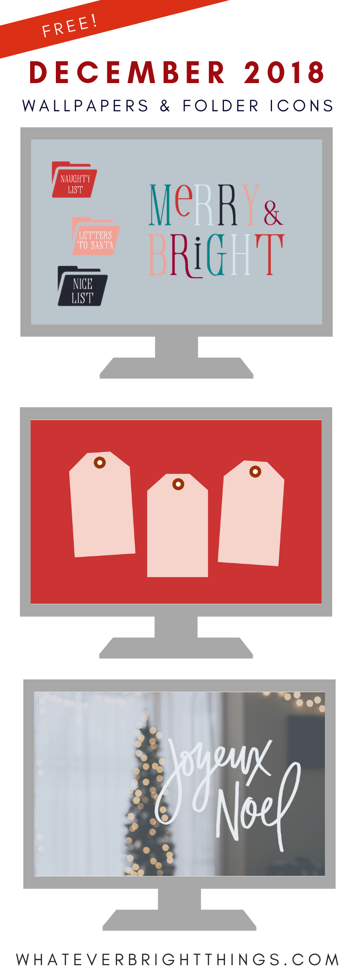December 2018 Wallpapers & Folder Icons Desktop