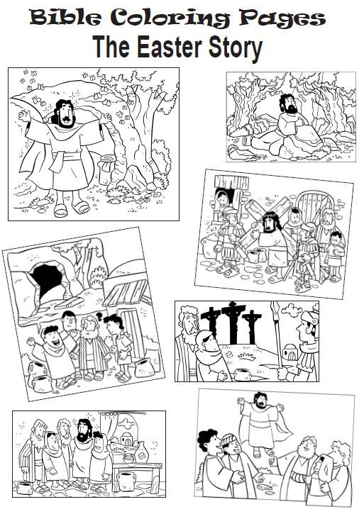 coloring pages the easter story - Bible Coloring Pages Easter Story