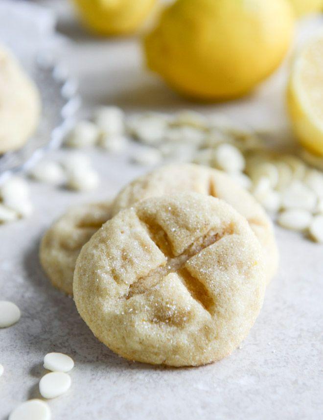 White Chocolate Lemon Butter Cookies
