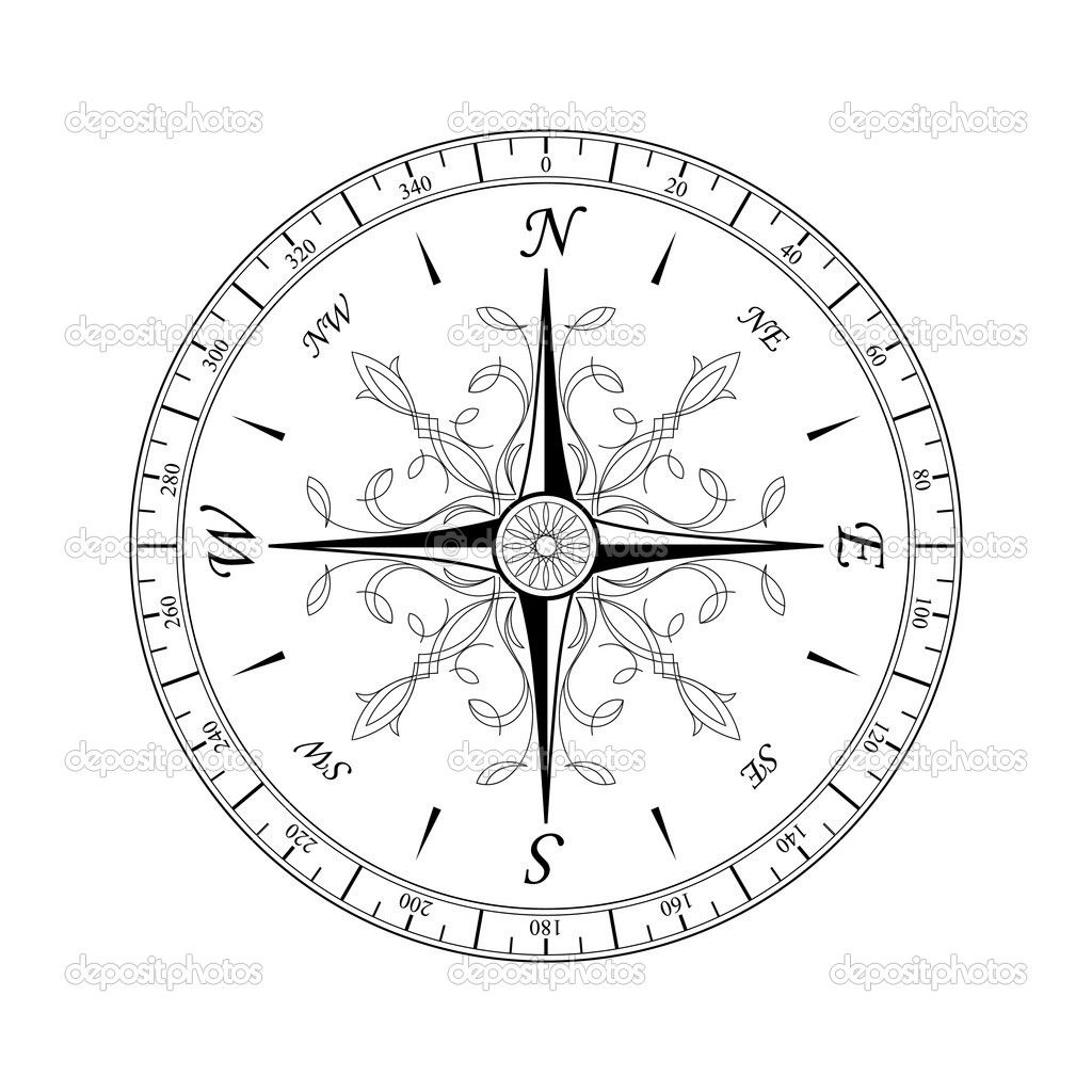 vintage compass rose tattoo | ... an ancient compass rose ...