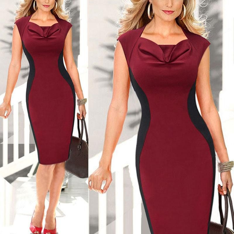8c075216bc5 New Elegant Short Sleeve Women V Neck Bodycon Elegant Pencil Dresses Office Wear  Women Work Outfits Vestidos