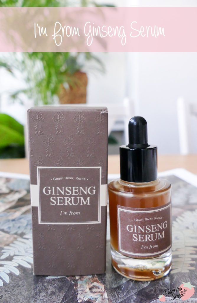 ginseng serum and mask i'm from