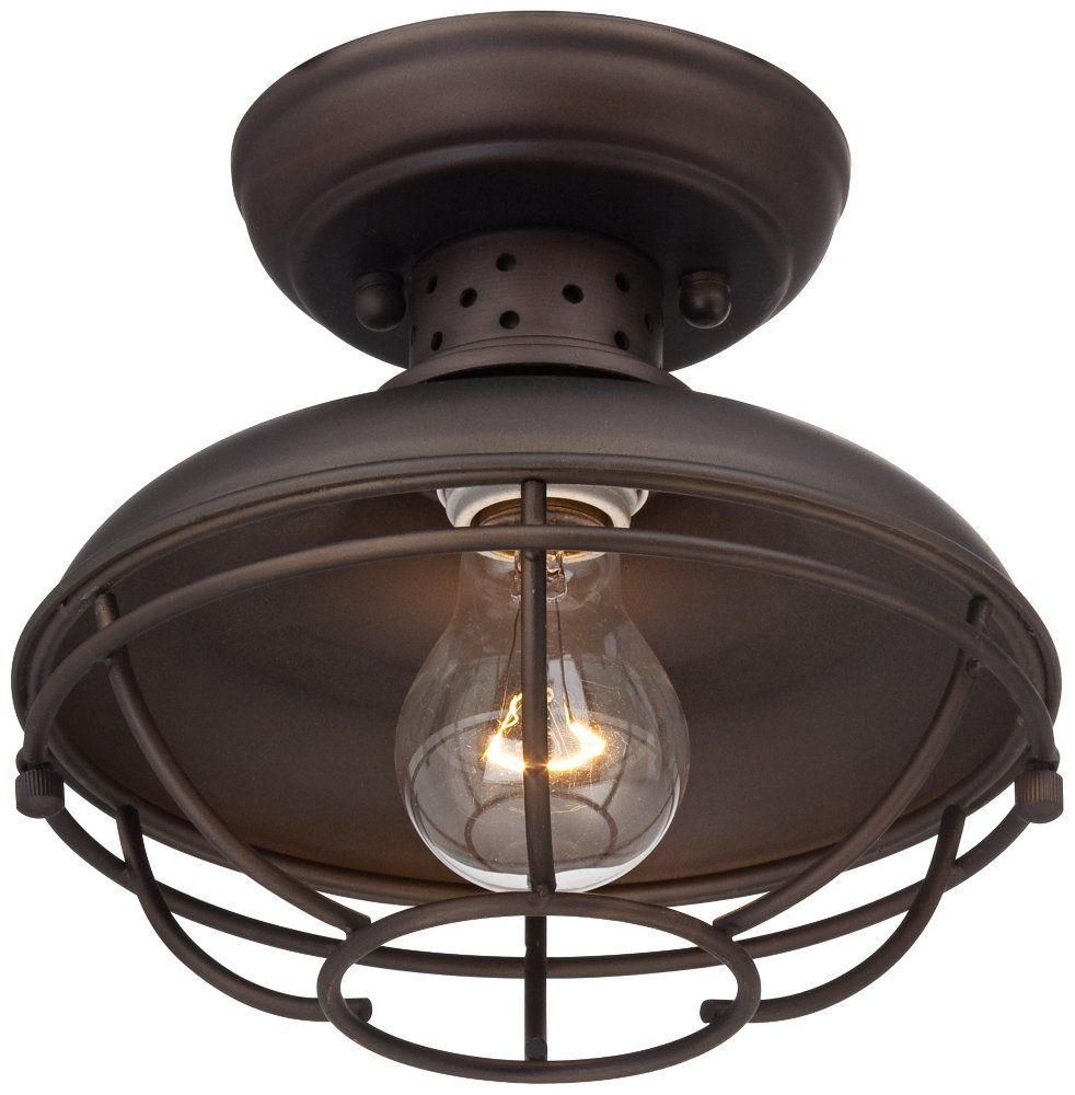 Franklin Park Metal Cage 8 1 2 Wide Outdoor Ceiling Light Close To Ceiling Light Fixtures Amaz Outdoor Ceiling Lights Bronze Ceiling Lights Ceiling Lights