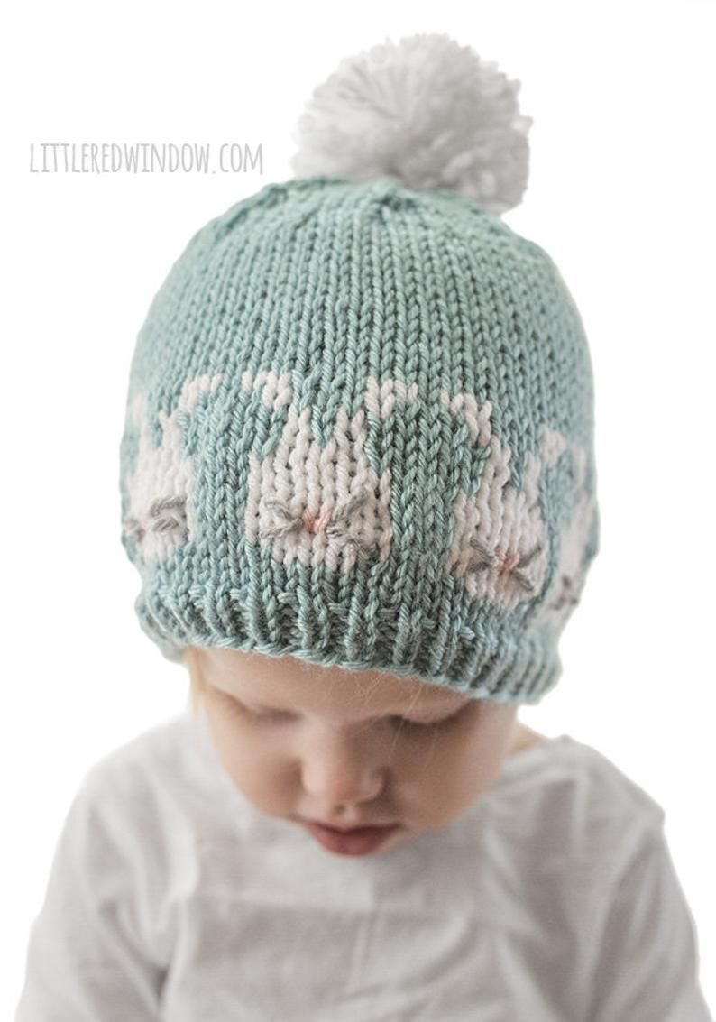 Easter Bunnies Hat KNITTING PATTERN / Bunny Hat Pattern ...