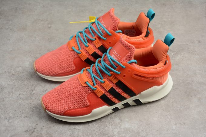 91ebce27da31 2018 Mens adidas EQT Support ADV Trace Orange Running White Gum Sneakers-4