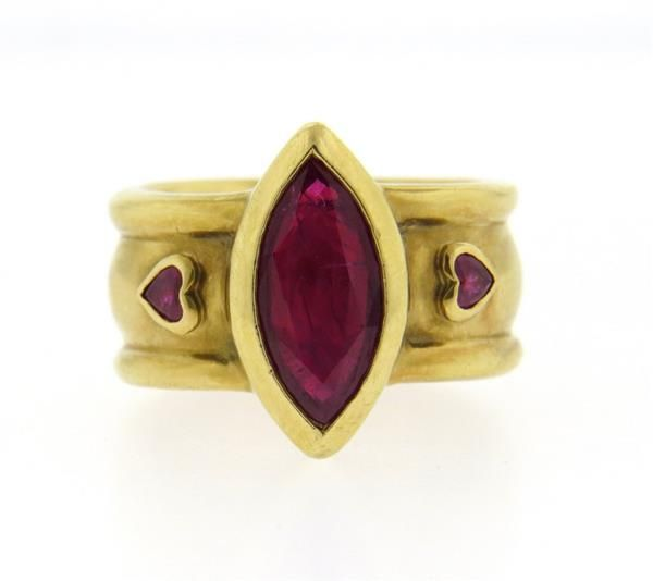 Loree Rodkin 18K Gold Pink Gemstone Ring Featured in our upcoming auction on July 26!