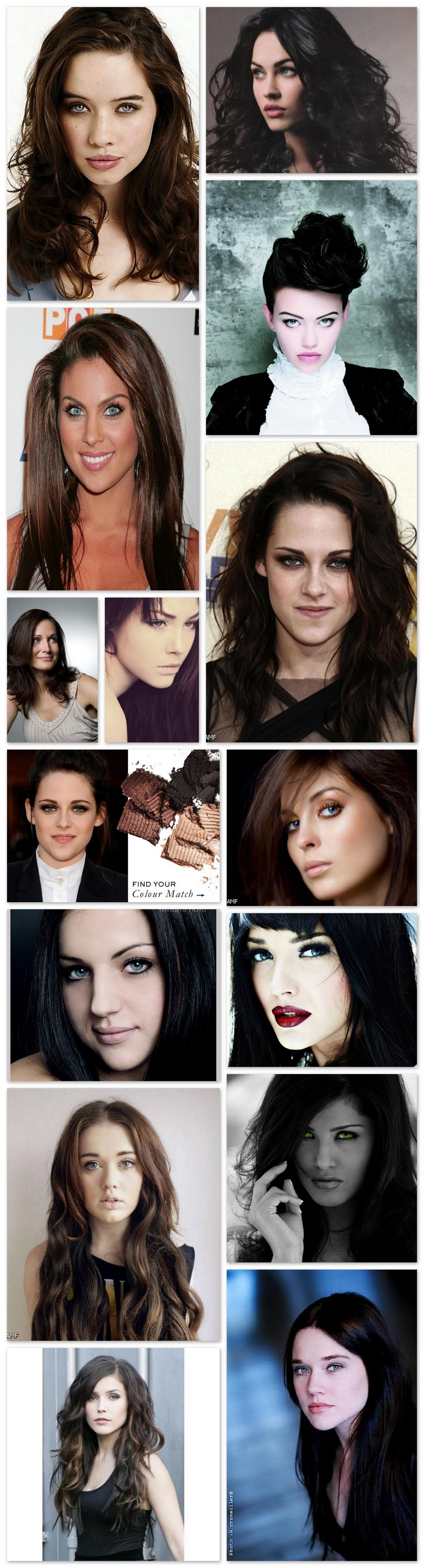Black Hair Pale Skin Grey Eyes  step by step  Pinterest  Black