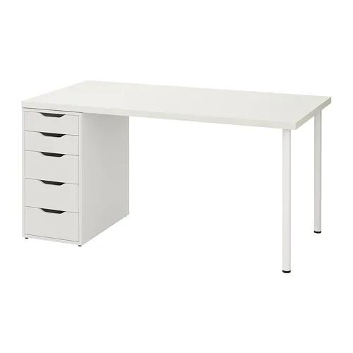 Linnmon Alex Table White 59x29 1 2 Ikea In 2020 Ikea Ikea Vanity Buy Desk