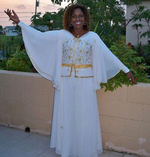 Praise Worship Dance Angelic Sleeve Top/Skirt Outfit/short panel - Praise Dance Robes For Men Discount Praise Dance Wear, Shoes