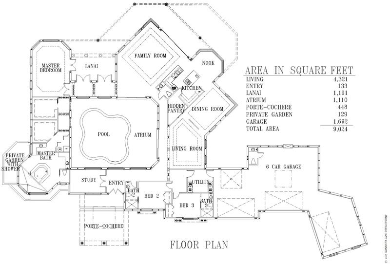 Custom Residential house plans drawn for outdoor living, 3 car ...