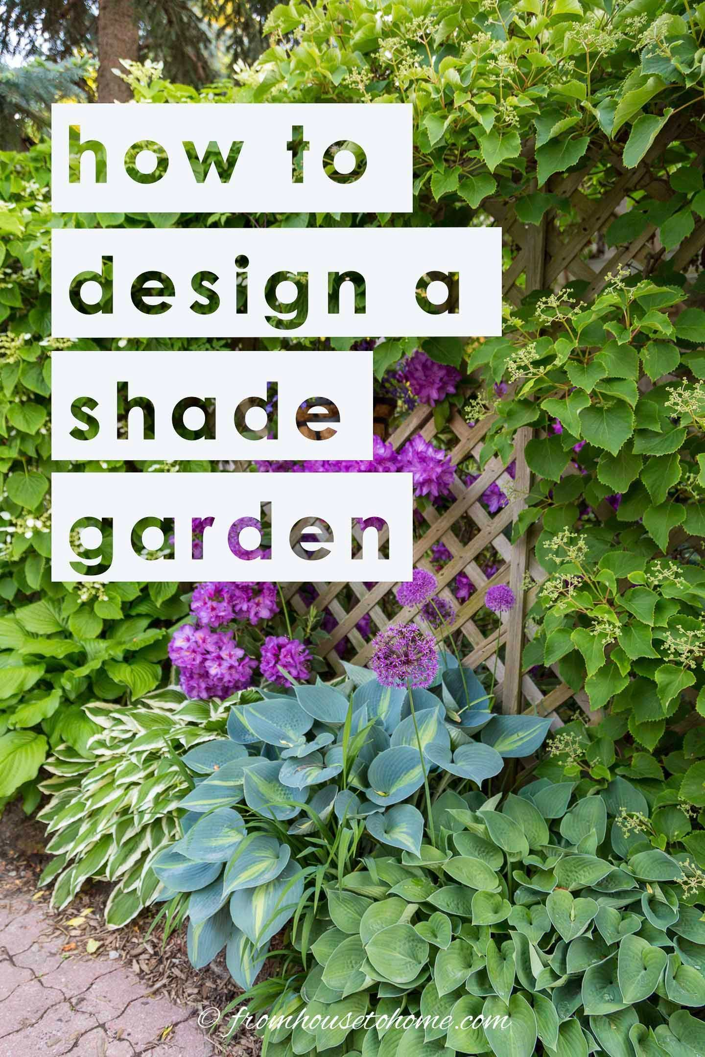 How To Design A Stunning Shade Garden (With Pictures) - Gardening @ From House To Home -   16 garden design Inspiration building ideas