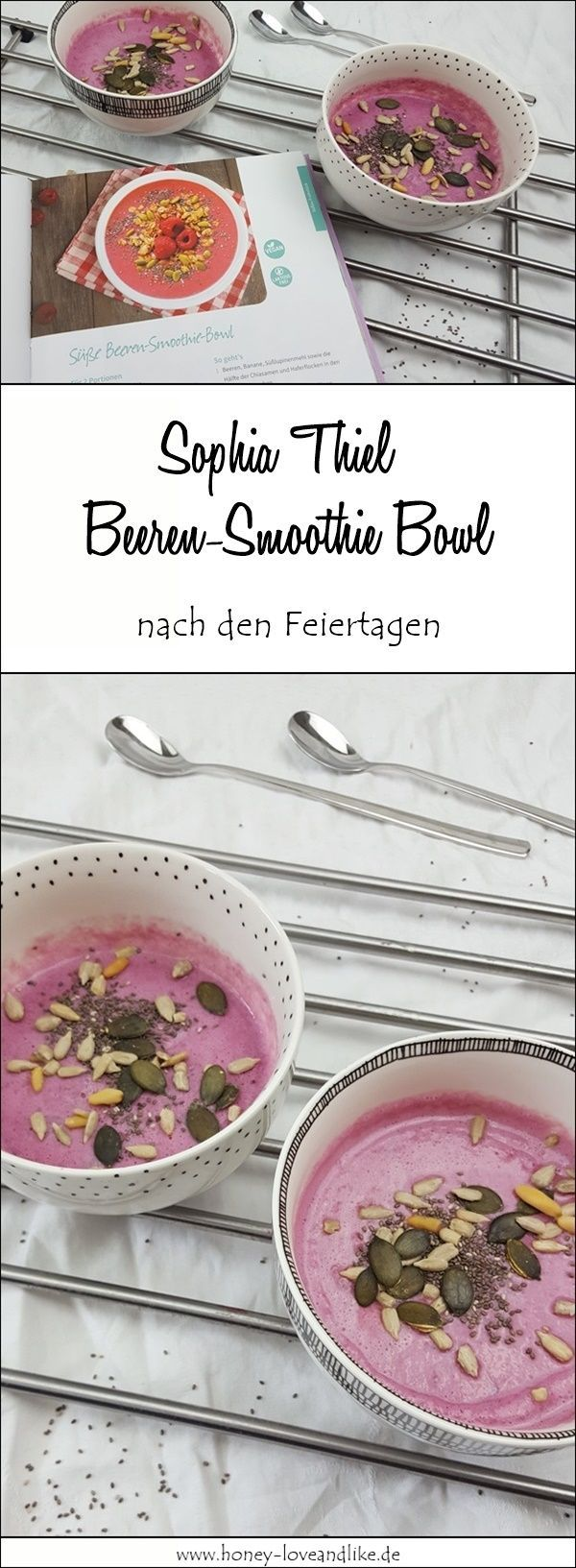 Beeren-Smoothie Bowl vom Sophia Thiel Fitness Sweets Kochbuch  #beeren #fitness #lowcarb #rezept #sm...