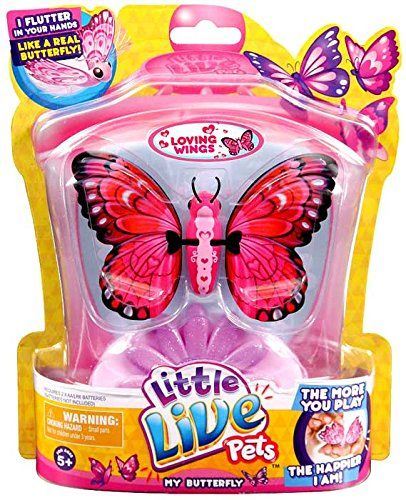 Amazon Com Little Live Pets Butterfly Loving Wings Toys Games Little Live Pets Butterflies Little Live Pets Christmas Toys Best Christmas Toys