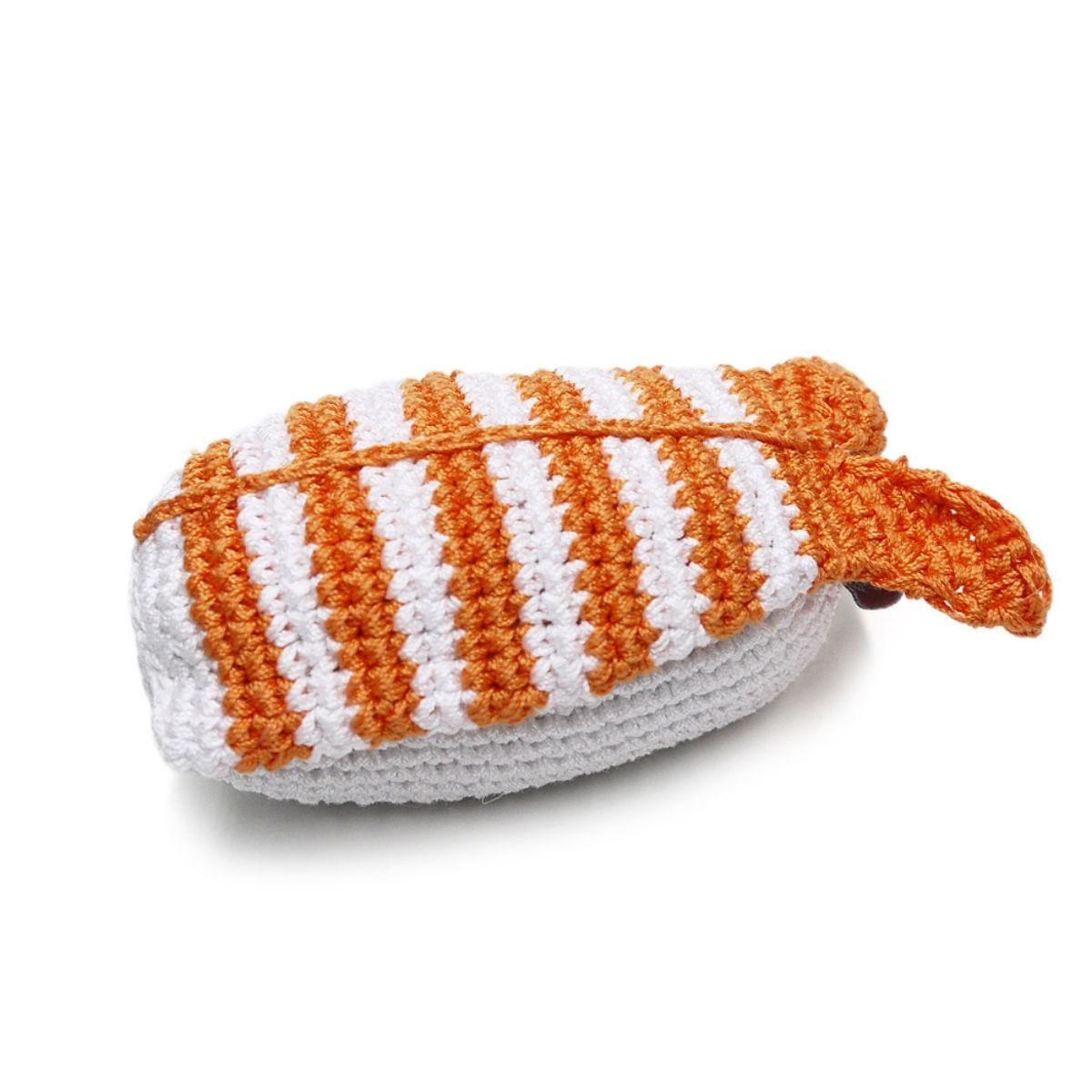 Shrimp Sushi Crochet Dog Toy by Dogo in 2020 Crochet dog