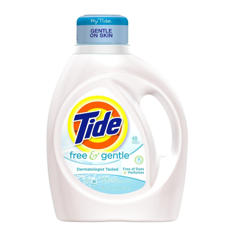 Tide Free And Gentle Liquid Laundry Detergent 48 Loads 75 Fl Oz