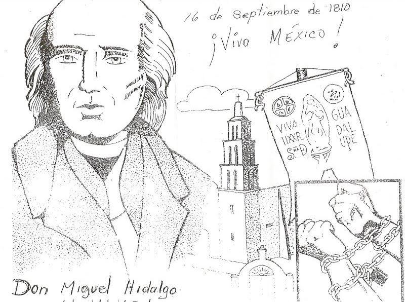 16 De Septiembre Independencia De Mexico Para Colorear Y Pintar Dibujos De La Independencia Personajes De La Independencia Dibujo Dia De La Independencia