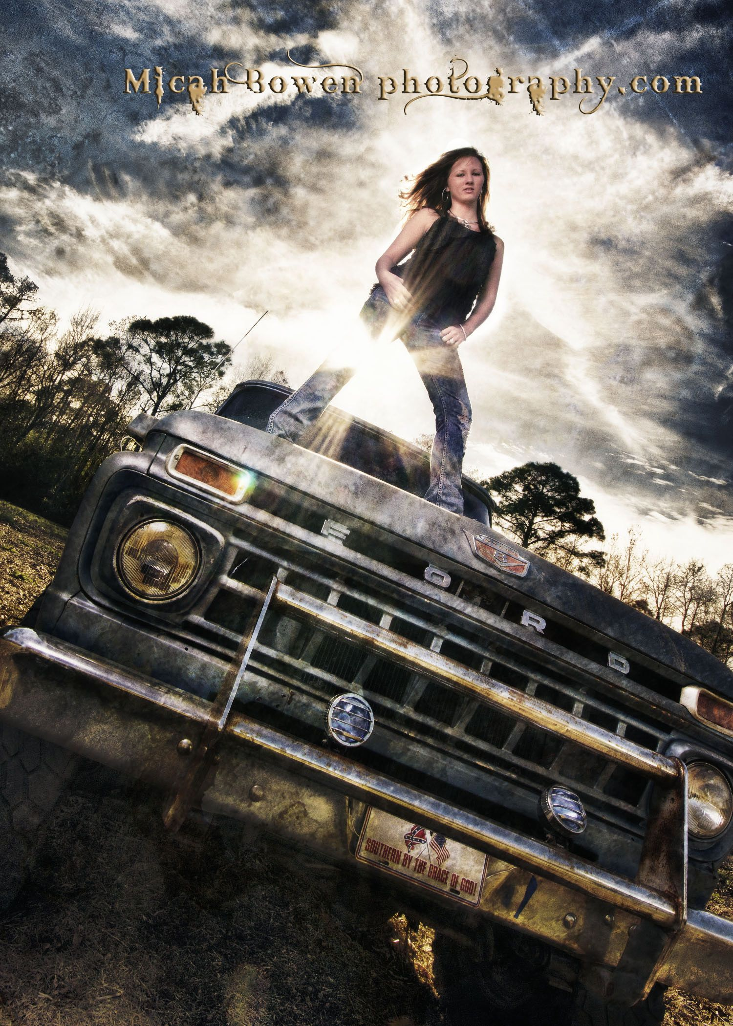 Senior Portrait Old Trucks With Images Girl Senior Pictures