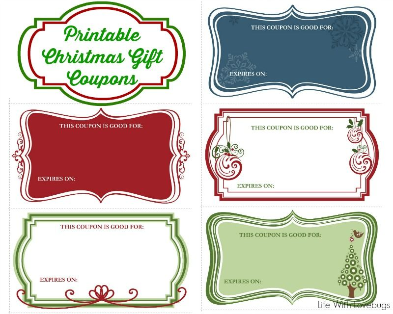 Printable Christmas Coupons Gifts Pinterest Gift Coupons   Christmas  Coupons Template  Christmas Coupons Template