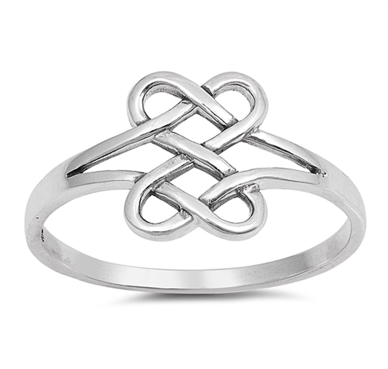 Wedding Engagement Choose Your Color Sterling Silver Celtic