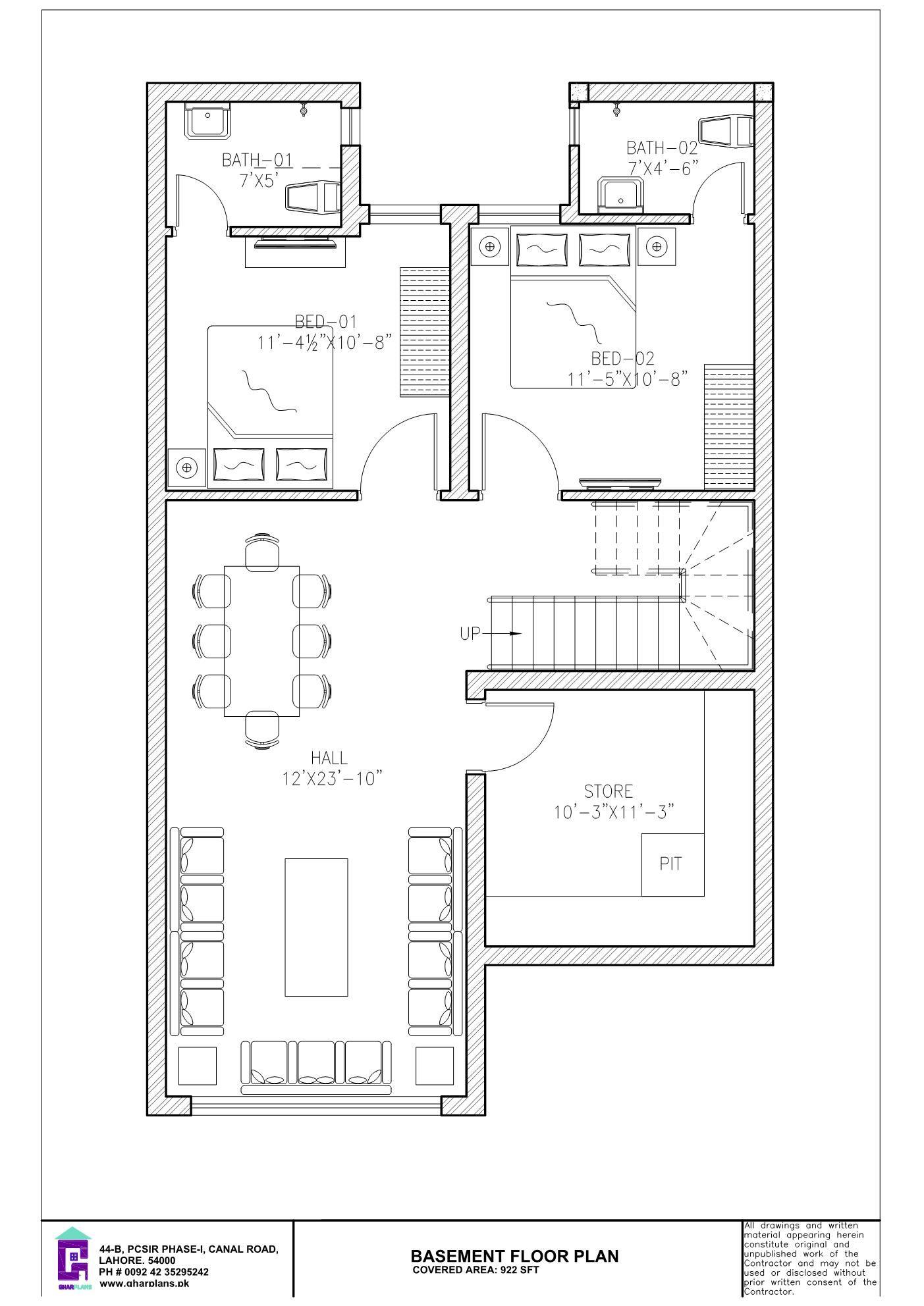 6 Bedroom 5 Marla Basement Floor Plan 5 Marla House Plan Basement Floor Plans House Plans