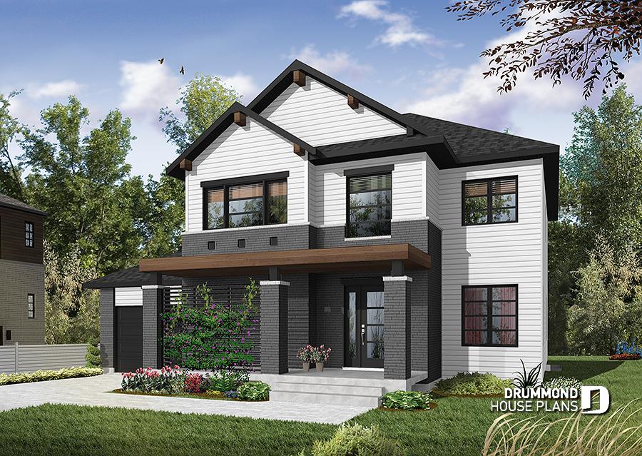house plan Lewiston - Noyo 3 No. 3720   Contemporary house ...