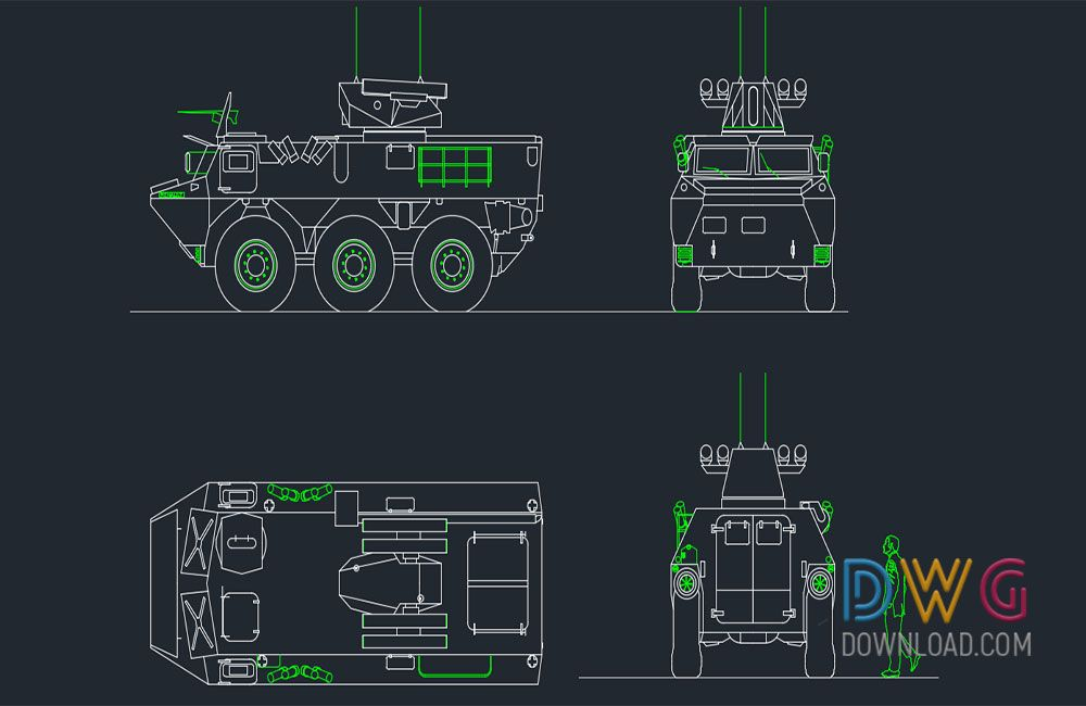 Armored Personnel Carrier Dwg Drawings  Is an autocad dwg