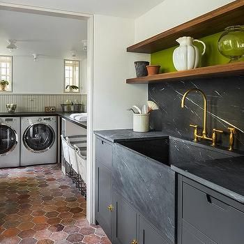 Best Benjamin Moore Kendall Charcoal Cabinets In The Laundry 400 x 300