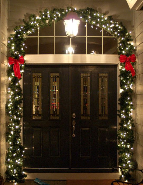 front door lights doing this for sure Christmas Pinterest