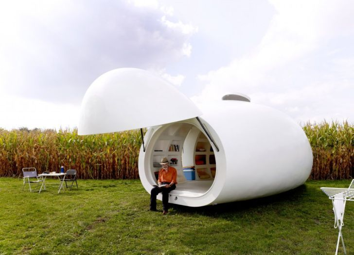 Blob Mobili ~ Incredible egg shaped mobile house extension is no ordinary blob