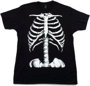 Skeleton Rib Cage Glow In The Dark Costume T-Shirt