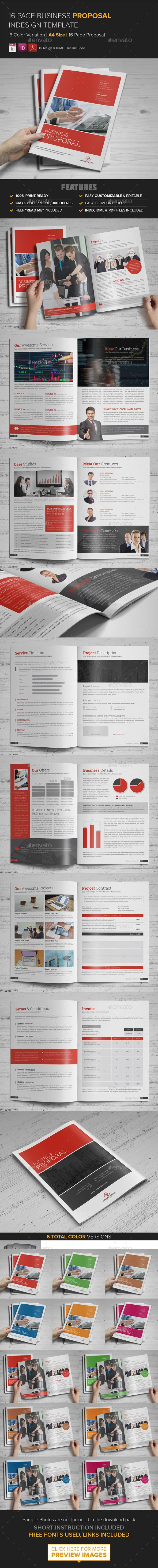 Business Proposal InDesign Template | Publicitaria, Papelería y Catálogo