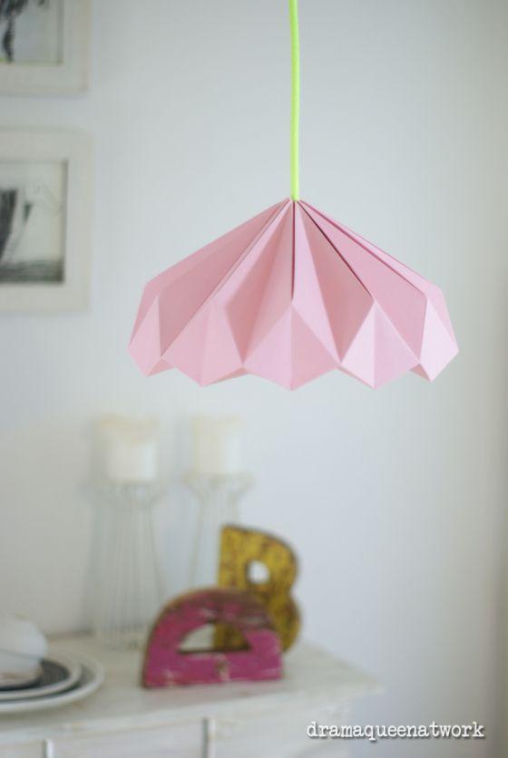 Plissee Die Lampen Origami Lamp Pinterest Origami Lamp
