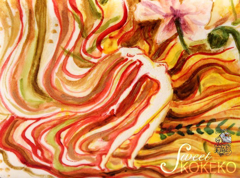 El Narciso de Elena para la colaboración Primavera de Fábula. Pintado completamente a mano alzada. Elena´s Narcissus for the Spring Fable Collaboration. Enterely free hand painted. http://www.sweetkokeko.com/