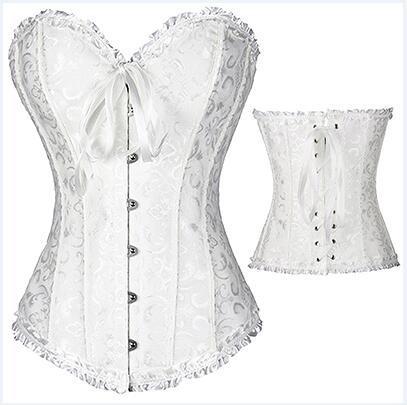 women steampunk gothic lace up corselet  blue corset