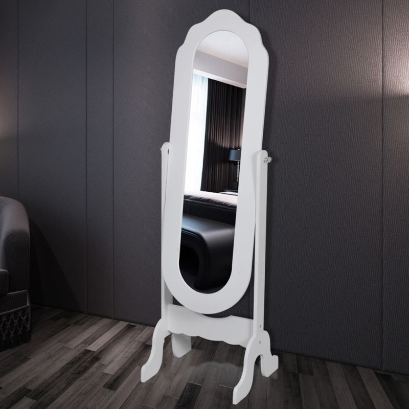 Adjustable MDF Free Standing Floor Mirror in White | Buy Home Decor ...
