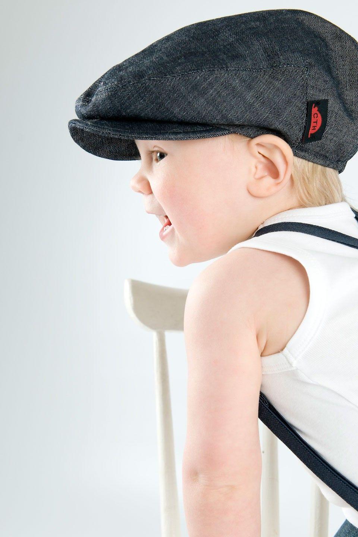 Carl jr. organic denim CTH Mini Flat cap, Newsboy cap