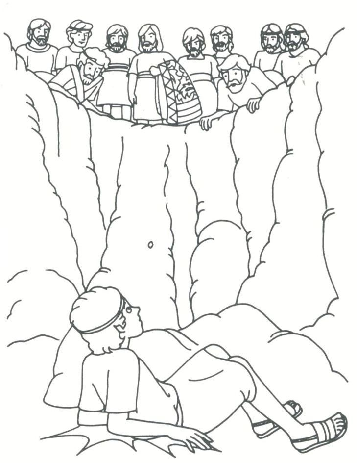 joseph sold by his brothers coloring page google search - Bible Story Coloring Pages Joseph