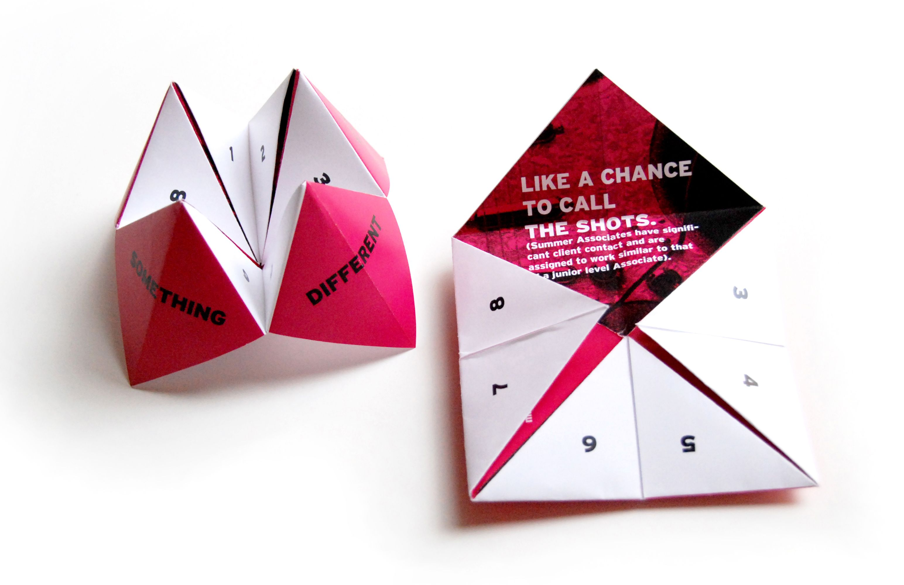 Paper Fortune Teller Trade Show Giveaways Corporate Giveaways Realtor Gifts