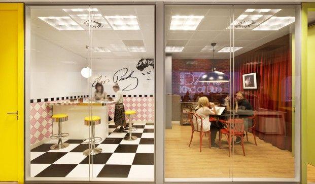 Nuevas oficinas de Sony Music -  cafeterias