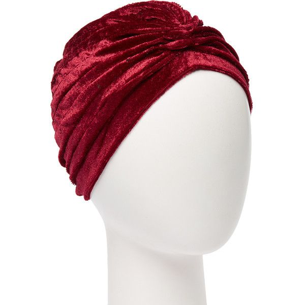 0489ddb5 ... Velvet Turban ($7.99) ❤ liked on Polyvore featuring accessories, hats,  burgundy hat, velvet hat, velvet turban, turban hat and vintage style hats