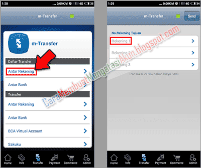 Bca Mobile Cara Transfer Uang Lewat Hp Bank Bca Ke Bca Ikuti Tahap Masukkan No Rekening Tujuan Ke Proses Kirim Uang Berserta Gambar M Tujuan Pengikut Gambar