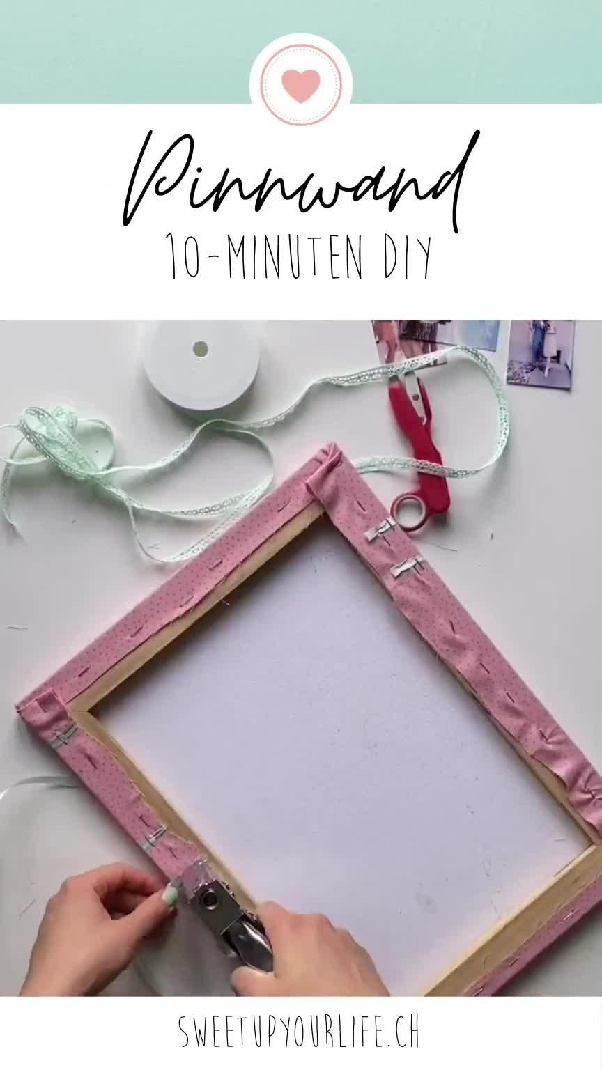 Pinnwand selber machen – 10-Minuten DIY – Sweet Up Your Life