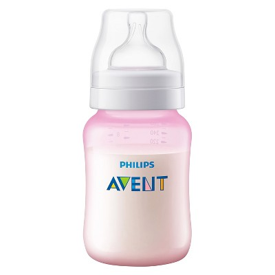Pink Phillips Avent Baby Newborn Girls Feeding Anti-Colic Plastic Bottle 260ml//9oz