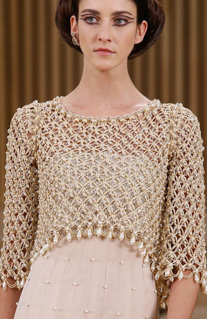 Chanel Spring 2016 Couture Vestido De Croche Trico E Croche Blusas De Croche